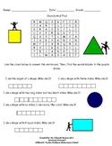 Kindergarten Math Word Search
