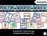 Kindergarten Common Core Math Word Wall *Editable*