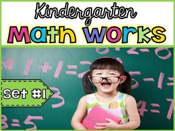 Kindergarten Math Works: Set #1 (Digital Learning & Printable Version)