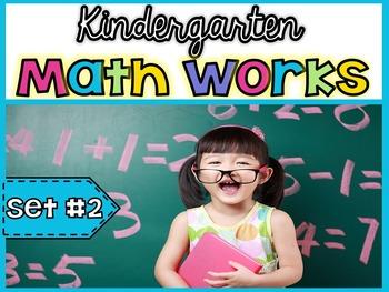 Kindergarten Math Works: Set #2 (Printable & Interactive PDF)