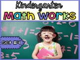 Kindergarten Math Works: Set #4 (Printable & Interactive PDF)