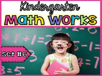 Kindergarten Math Works: Set #6 (Printable & Interactive PDF)6