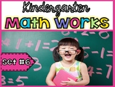 Kindergarten Math Works: Set #6 (Printable & Interactive PDF)6