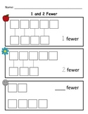 Kindergarten Math Worksheet: Count and Identify Fewer