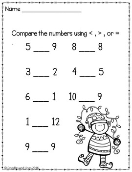 Kindergarten Math Worksheets - December