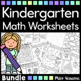 Kindergarten Math Worksheets And Printables Bundle