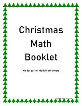 Kindergarten Math Worksheets - Christmas Holiday Theme