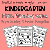 Kindergarten Math Morning Work Simple Counting & Number Recognition