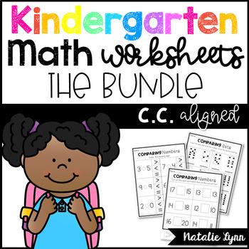 Kindergarten Math Worksheets Bundle