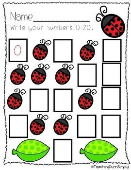 Counting to 20 - NO PREP! by Teaching Dunn Simply   TpT