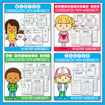 Kindergarten Math Worksheets MEGA BUNDLE