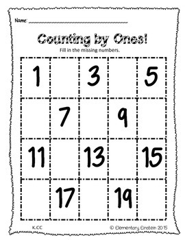 Kindergarten Math Worksheets NO PREP