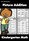 Kindergarten Math Worksheets. Picture Addition. Distance Learning