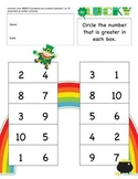 Kindergarten Math Worksheets St Patrick Day theme