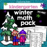 Kindergarten Math Worksheets [Winter Theme]