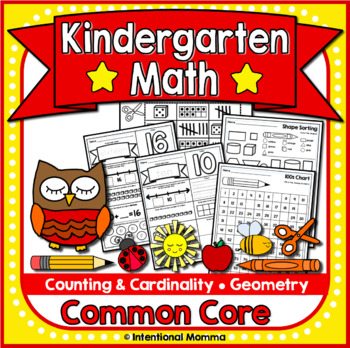 Kindergarten Math Worksheets for Common Core