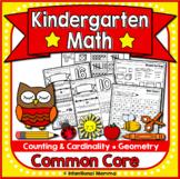 Kindergarten Math Worksheets for Common Core