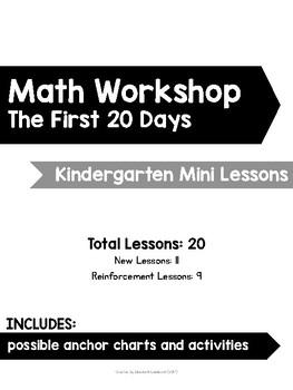 Kindergarten Math Workshop Mini Lessons: The First 20 Days