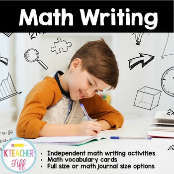 Math Writing and Vocabulary Cards
