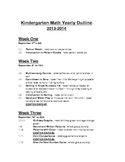 Kindergarten Common Core Math Yearly Outline Univ. of Chic