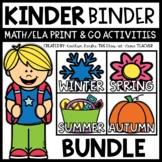 Kindergarten Math and Literacy Activities for Binder GROWI