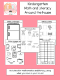 Kindergarten Math and Literacy Around the House - Distance Learning