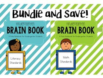 Kindergarten Math and Literacy Brain Book Bundle