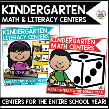 Kindergarten Math and Literacy Centers Bundle