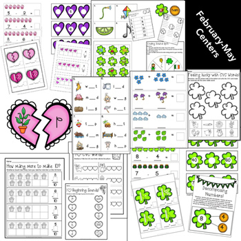 Kindergarten Centers: Math and Literacy Centers for the ENTIRE year