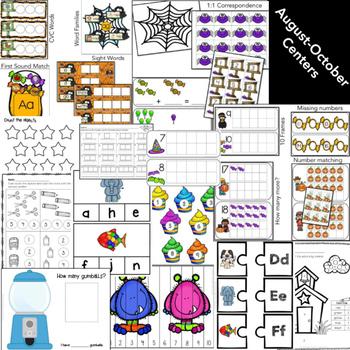 Kindergarten Centers: Math & Literacy Centers