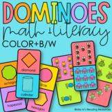 Kindergarten Math and Literacy Dominoes GROWING Bundle