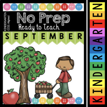 Kindergarten Back to School Activities - September Math and Reading Worksheets