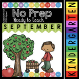 Kindergarten Back to School Activities - Math and Reading Worksheets - Apples