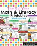Kindergarten Math and Literacy Printables