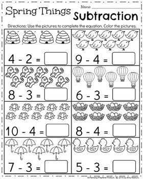 Kindergarten Math and Literacy Printables - April