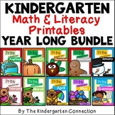 Kindergarten Math and Literacy Printables BUNDLE