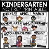 Kindergarten Math and Literacy Worksheets BUNDLE