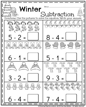 Kindergarten Math and Literacy Printables - January by ...