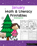 Kindergarten Math and Literacy Printables - January