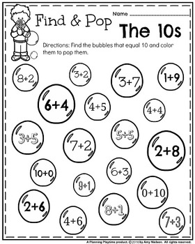 Kindergarten Math and Literacy Printables - May