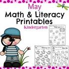 Kindergarten Math and Literacy Printables - May