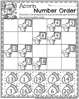 Kindergarten Math and Literacy Printables - November