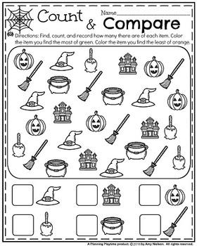 Kindergarten Math and Literacy Printables - October