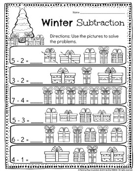 kindergarten math and literacy printables december by planning playtime. Black Bedroom Furniture Sets. Home Design Ideas