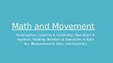 Kindergarten Math and Movement