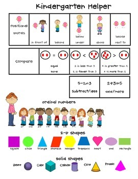 Kindergarten Math and Reading Helper