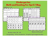 Kindergarten Math and Reading for April and May
