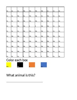 Kindergarten Math and Site word color by number
