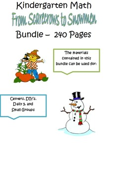 Kindergarten Math for Fall to Winter with Common Core Standards