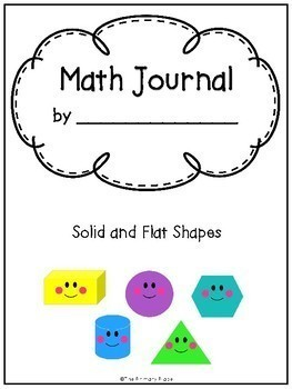 Kindergarten Math Journal - Solid and Flat Shapes (Geometry)